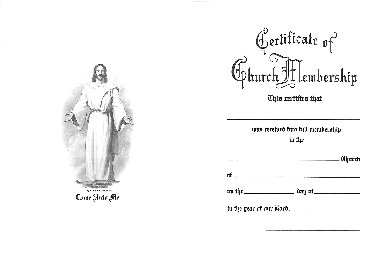 Certificate of Church